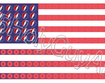 Steal Your Flag Sticker FREE SHIPPING!!! (Grateful Dead Sticker, PHiSH Sticker, United States Flag Sticker)