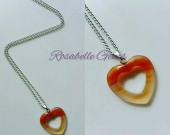 Agate, Heart Pendant, Necklace, Pendant, Heart, Heart Necklace, Agate Necklace, Jewelry, Agate Pendant, Natural Stone, Heart Jewelry, Stone