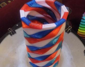 3 Color Spiral Vase