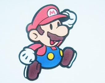 Nintendo Paper Mario Die Cut, Mario Die Cuts, Character Die Cuts, Scrapbook Die Cuts, Mario Party, Paper Die Cuts, Handmade Die Cuts