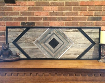 Black Diamond Reclaimed Wood Wall Art