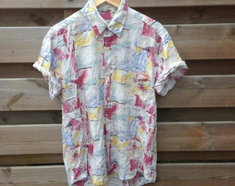 SALE - MENS | Vintage abstract watercolor shirt | Size M - SALE