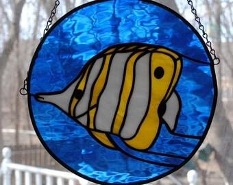 Tropical Yellow Angelfish