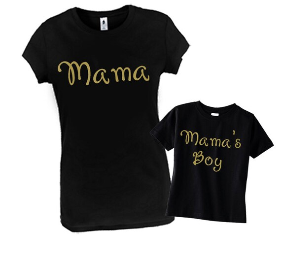 Mama & Mama's Boy Matching Mommy Son Outfit Mommy and Me