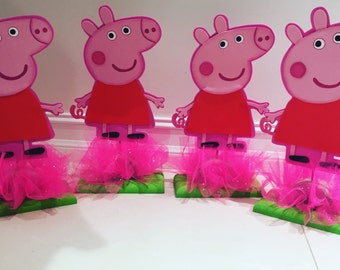 Peppa pig centerpiece