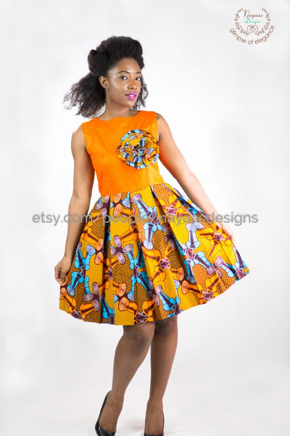 Items similar to African Print Dress- Women African Clothing ...
