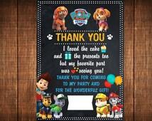 Paw Patrol Thank You Card. Paw Patrol Thank You Note. Paw Patrol Thank You Birdhday. Thank You Card Paw Patrol Printable. Party Paw Patrol.