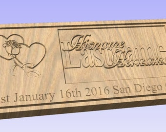 Precision Carved Wooden Wall Plaque for all Occasions