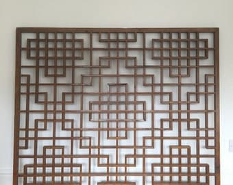 Antique, Chinese fretwork window screens. Architectural salvage.