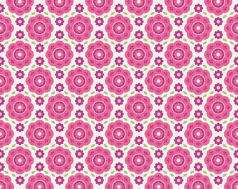 Riley Blake Summer Song 2, Floral Pink (C4622) , fabric by the yard