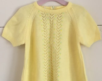 Vintage Yellow Sweater Dress/Top