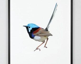 Single geometric native Australian animal print.
