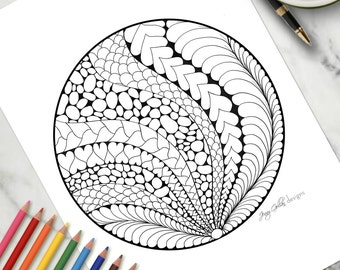 Printable Colouring Page With Flair