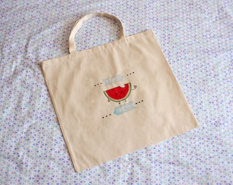 Stay fresh / Watermelon Canvas Tote bag