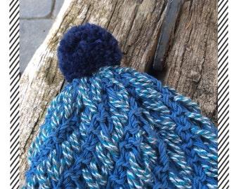 Cap blue ribbons