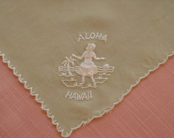 Vintage Souvenir Hanky from Hawaii