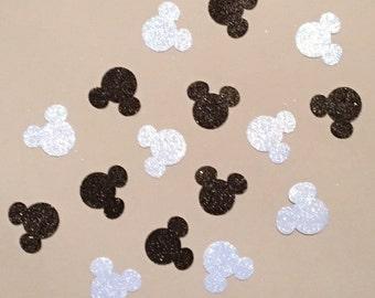 200 Minnie Mouse Confetti Glitter Confetti Minnie Mouse Birthday Confetti Minnie Mouse Baby Shower Confetti Minnie Mouse Decor Blue Black