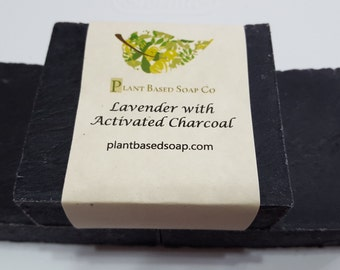 Lavender with Activated Charcoal Organic Soap Bar (Clearance)