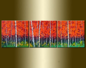 Original Abstract  Oil Painting:Dance for trees