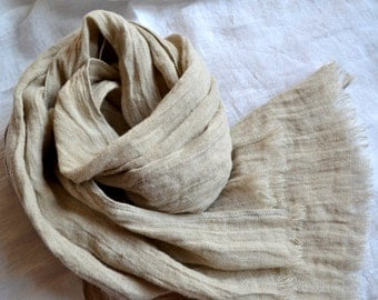Linen Scarf, Scarf, Skarf for women, Lightweight scarf, Natural Linen Scarf, Woman Scarf, Organic Scarf, Light scarf, Linen Shawl