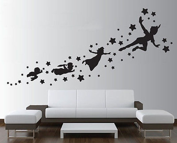 Peter Pan Wall Decal Removable Vinyl Sticker Mural Christmas