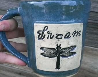 Dream dragonfly ceramic mug