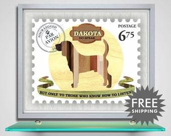 Beagle Dog Art Print, Dog Silhouette Art Print, Dog Custom Pet Art Print, Personalized Dog Art, Dog Lover Gift, Pet Gift, Dog Name Sign