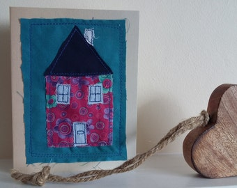 house stitched greeting card