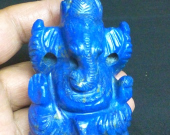 Ganesh Statue, Lapis Lazuli Gemstone Carved Ganesha Idol, Lapis Lazuli Ganesha Statue, Lapis Lazuli Carving, Ganesha Idol, Ganesh Figure