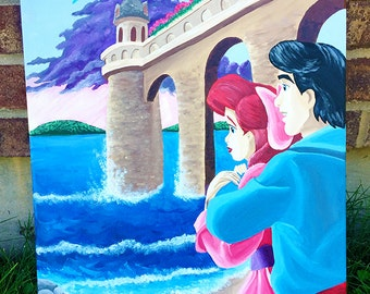 Disney Little Mermaid Painting - Ariel and Eric