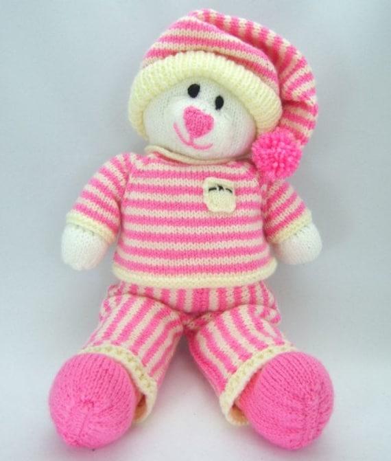 Bed Time Bear Knitting Pattern, Bear Knitting Pattern, Toy Knitting Pattern, ...