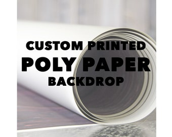 Custom Poly Paper Printed Backdrop