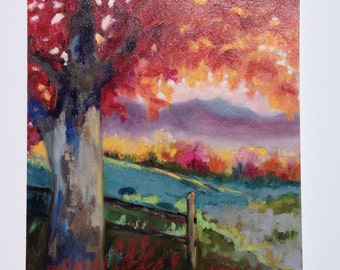 Original Oil Painting/landscape art/painting/fine art/trees/wall art/home decor/
