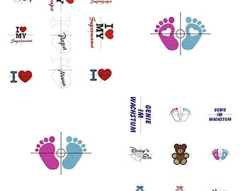 Stick file * Babyset * 10x10 and 13x18 (attention not every file is available for both sizes)