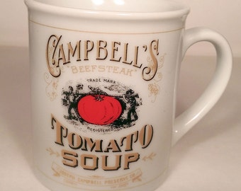 Campbell's Soup Company Collectors Soup Mug, 125th Anniversary - Vintage 'Campbell's Beefsteak Tomato Soup'
