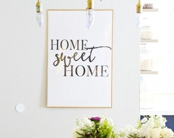DOWNLOADABLE Home Sweet Home oversized artwork print wall decor art