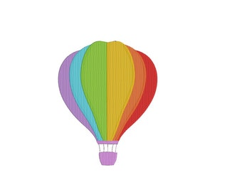 Hot Air Balloon Machine Embroidery Design , Hot Air Balloon Embroidery Digital Design File Instant Download WC14