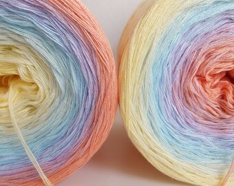 Pastellinchen gradient length selectable Knitting Crochet handmade