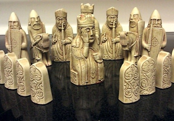 Isle of lewis chess set 36 piece set includes a by lewischessmen - Lewis chessmen set ...