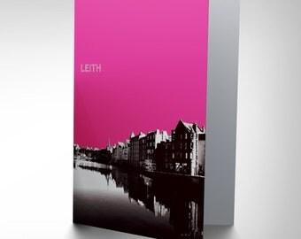 Leith Card -  Edinburgh Scotland Scottish Birthday Gift Blank Greetings Card CP1235