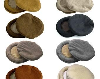 100% Wool Afghan Pakul Chitrali Cap Pakol Hat Peshawari Handmade one size