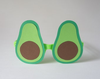 Avocado Glasses / Photo Booth Prop / Avocado / Guacamole / Handmade /Photobooth