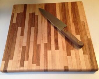 Unique two tone maple cutting board