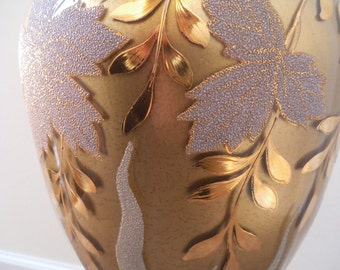 Gold Gilt Hollywood Regency Lamp, Mid Century Germany