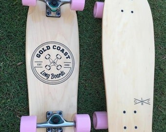 Cruiser Skateboard - Pastel Pink Wheels