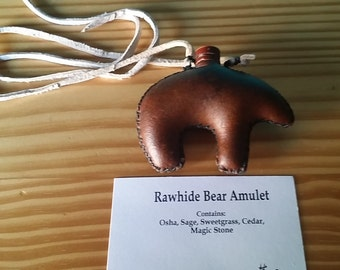 Rawhide Bear Amulet