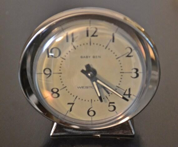 Westclox Baby Ben Wind Up Alarm Clock Light Grey