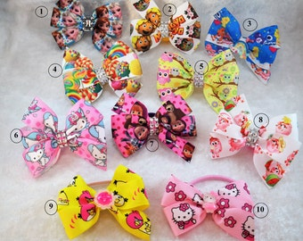 pigtail bows bow hair ties hair elastic gifts little girls for little girls summer accessories little girls bows baby bows girl hair bow