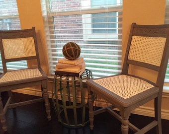 Pair of Antique Cane Chairs