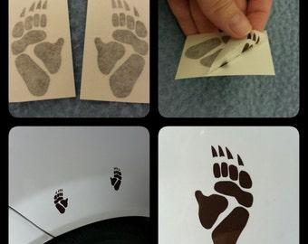 Pair of Wombat Paw Vinyl Decal Stickers